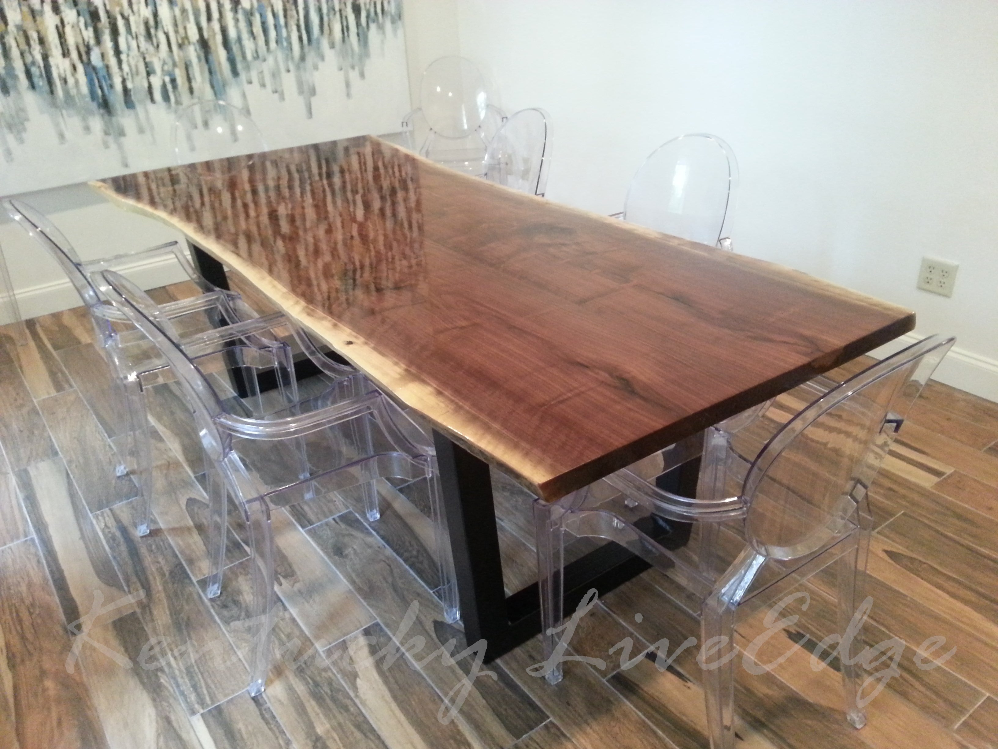 Picture of: Made To Order Live Edge Dining Table Custom Dining Table Modern Din Kentucky Liveedge