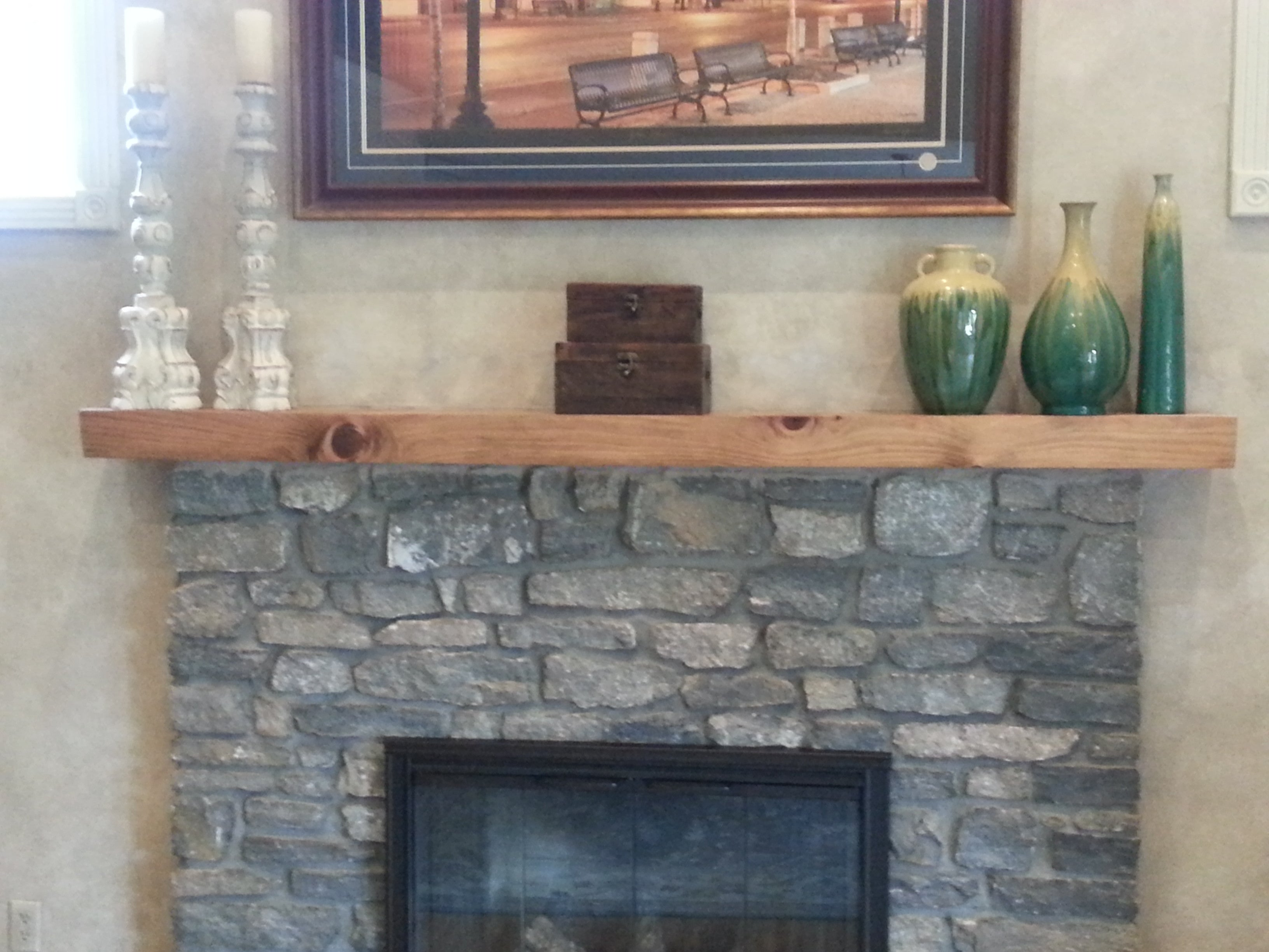 Custom Mantel Live Edge Mantel Hardwood Mantel Wooden