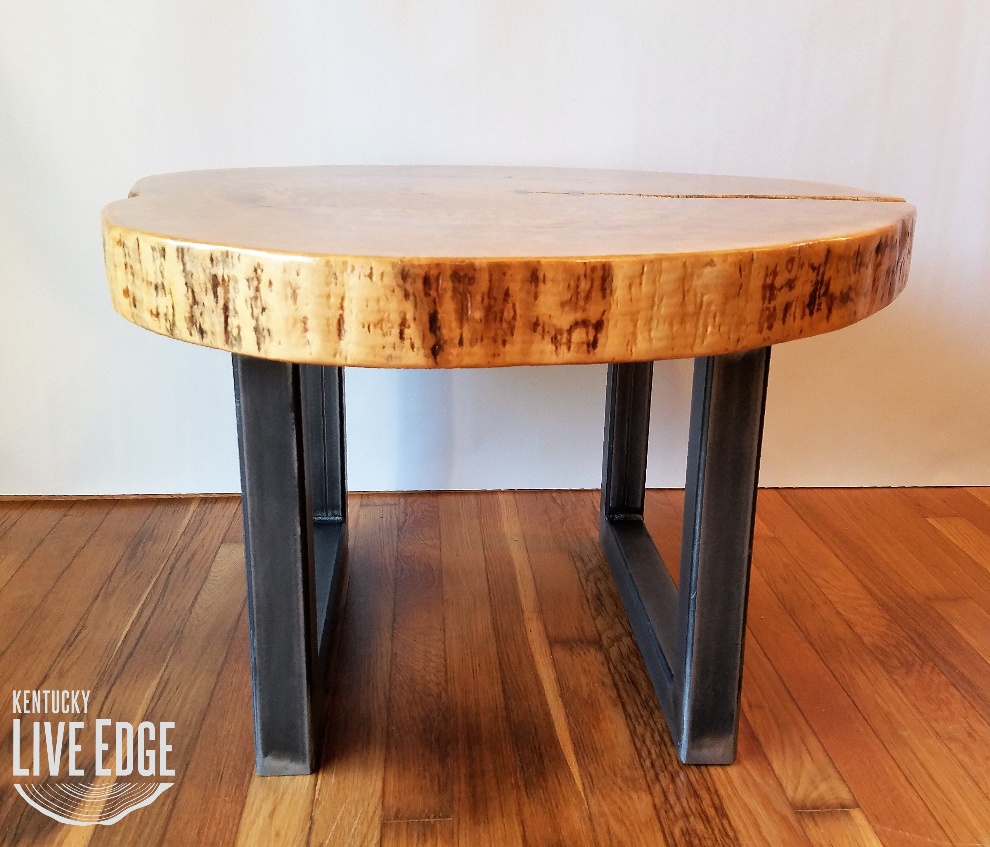 Round Coffee Table Live Edge Industrial Tree Slice Log Rustic