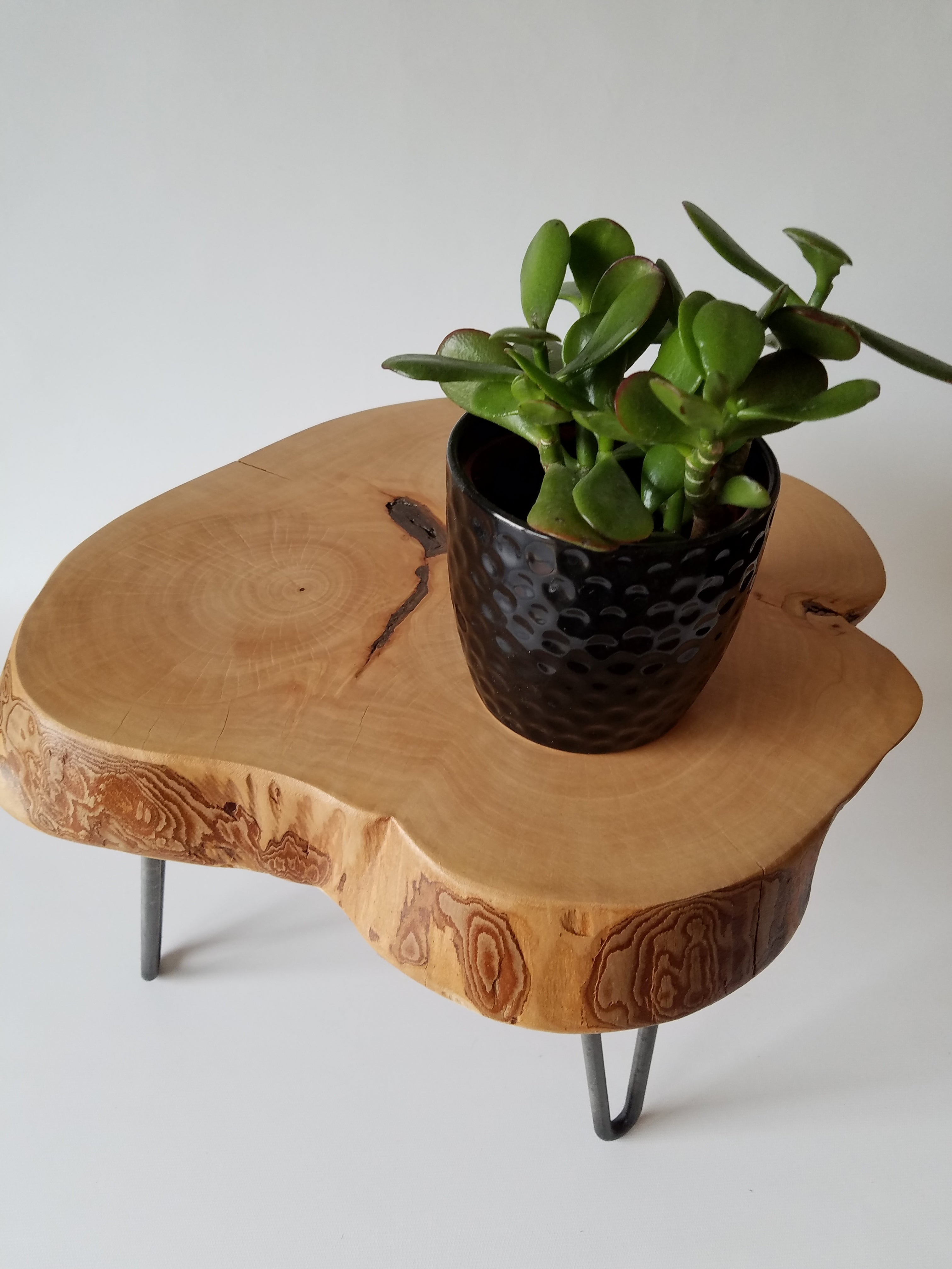 Plant Stand Log Side Table Step Stool Reclaimed Wood