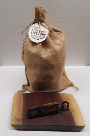 Trifecta Box- Gift Set- Bourbon Barrel Smoker Chunks- Bottle Opener- Walnut Charcuterie Board- Wood Conditioner- Choose Your Own- Kentucky