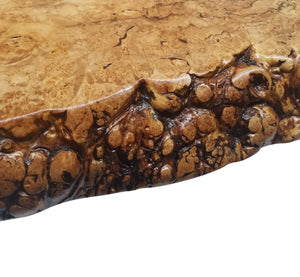 Live Edge Coffee Table- Maple Burl- Large Coffee Table- Round Coffee Table- Natural Wood- Figured Wood- Tree Slice- Big Coffee Table- Nature