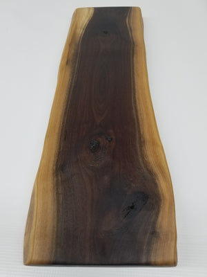 Serving Board- Reclaimed Hardwood- Walnut- Charcuterie- Cheese Board- Cutting Board- Bread Board- Gift- Foodie- Chef- Live Edge- Cool