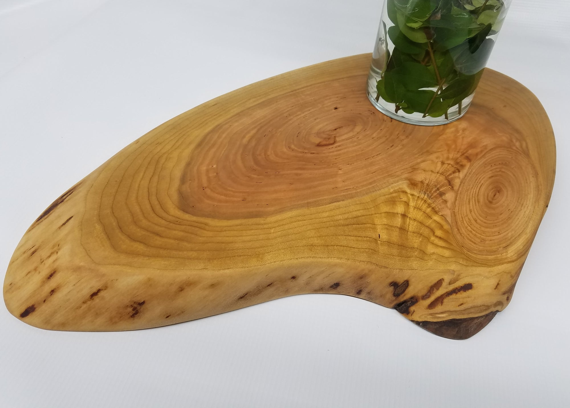 Wooden Charcuterie Board- Table Centerpiece- Crosscut Slab- Natural Wood- Serving Board- Food Safe- Live Edge Slab- Cherry- Christmas Gift