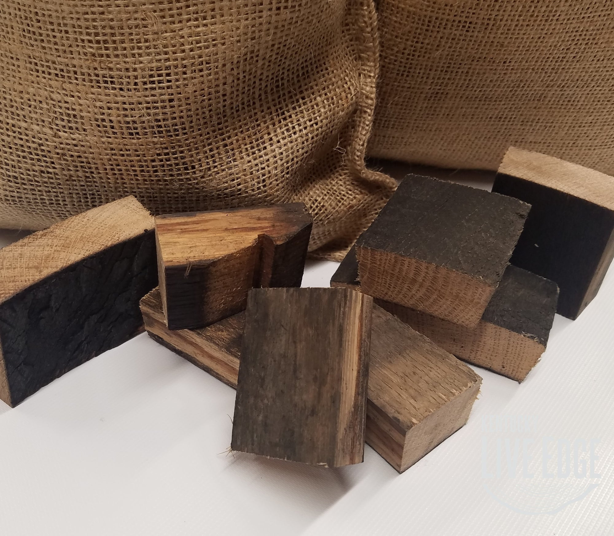 Bourbon Barrel Smoker Chunks- Smoker Chips- BBQ- Grill- Pitmaster- Reclaimed Wood- White Oak- Seasoned Wood- Bourbon- Gift- Kentucky- Cook