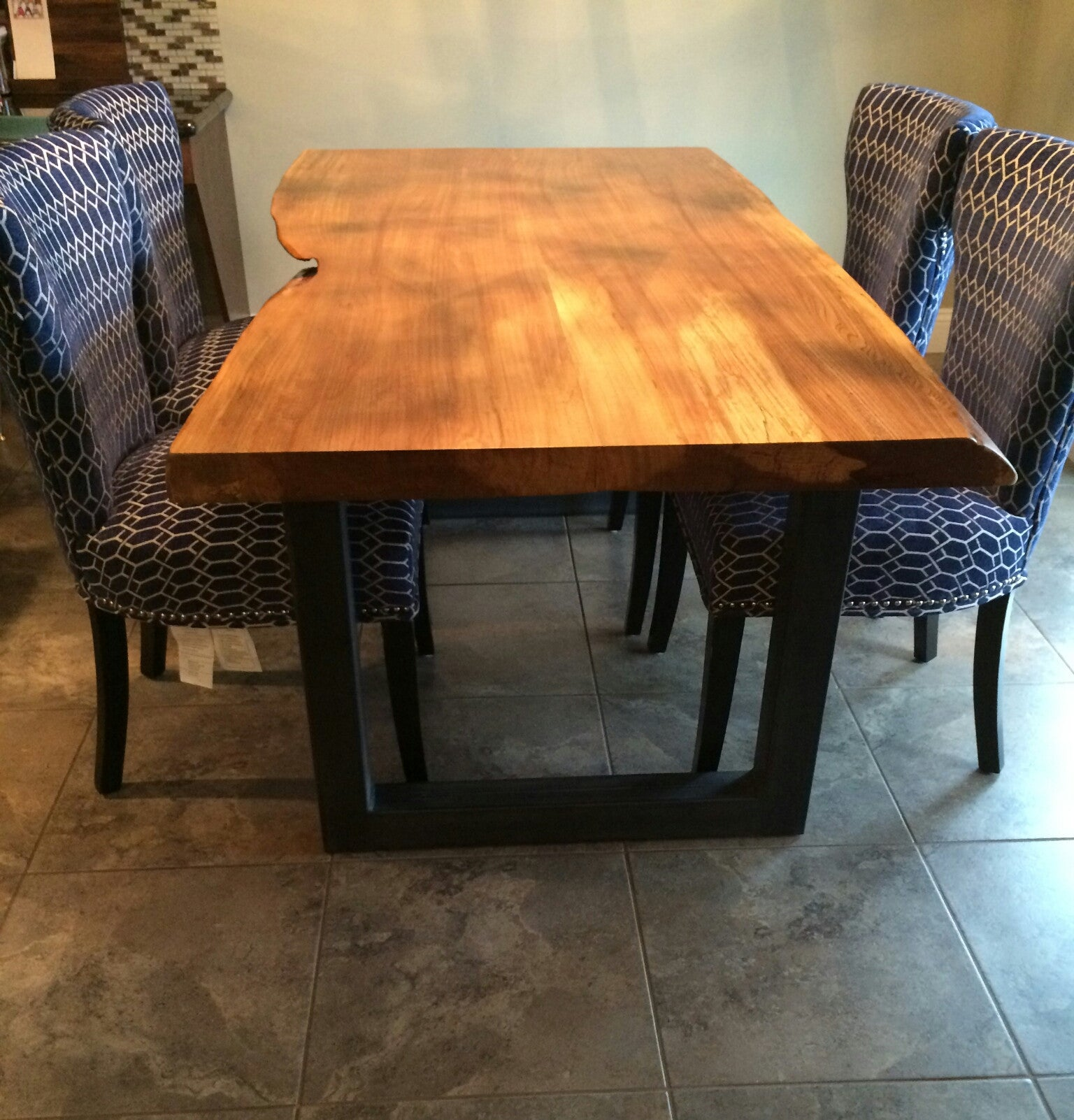 Made to Order Live Edge Dining Table- Your Custom Table- Industrial- Modern- Rustic- Handmade- Steel- Wood & Made to Order Live Edge Dining Table- Your Custom Table- Industrial ...