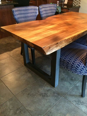 Made to Order Live Edge Dining Table- Your Custom Table- Industrial- Modern- Rustic- Handmade- Steel- Wood