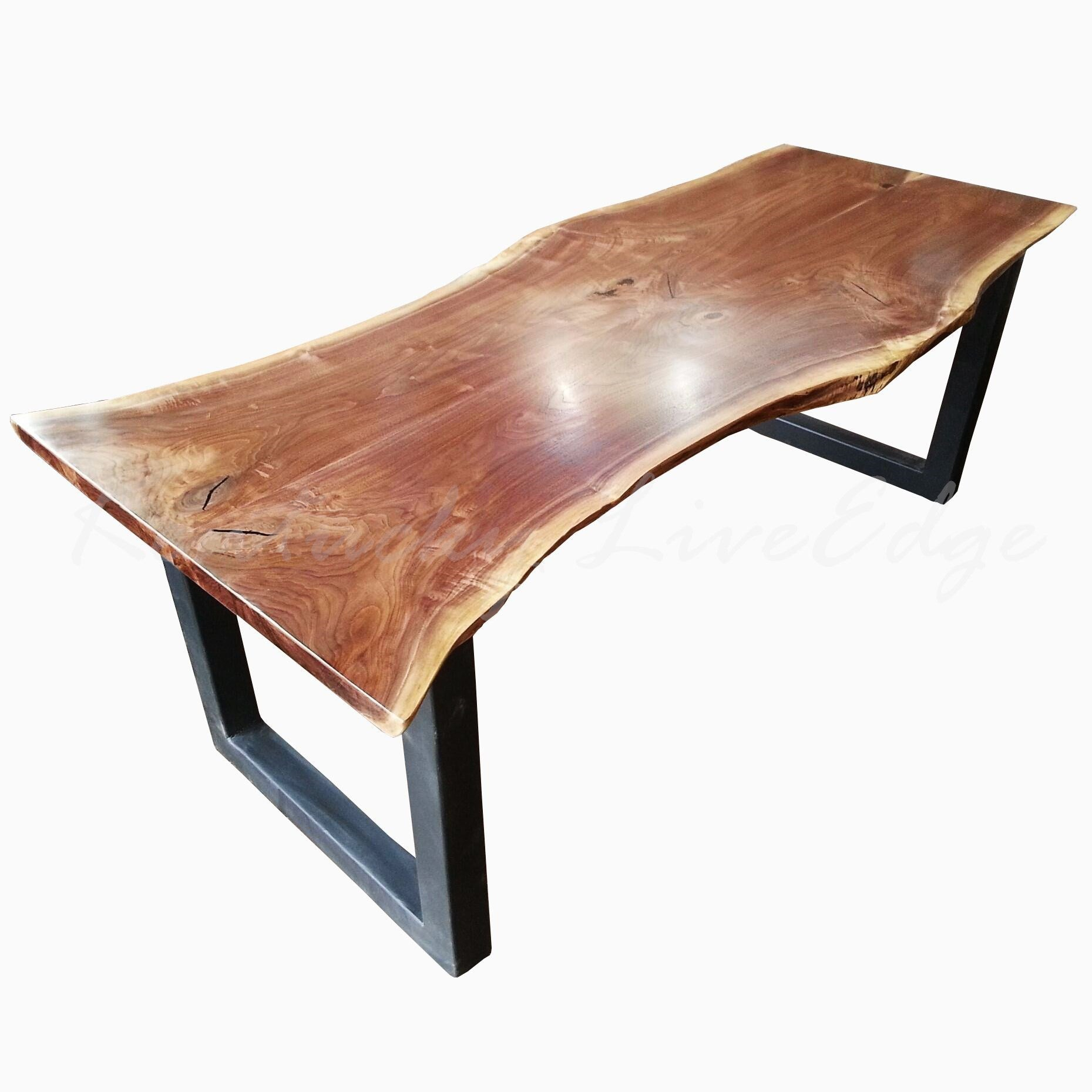 Live Edge Dining Table, Made To Order, Custom Dining Table, Modern Dining  Table, Industrial Dining Table, Metal Bases, Conference Table