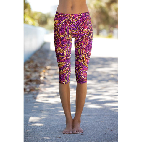 Vibrant Galaxy Ellie Performance Capri Leggings - Women