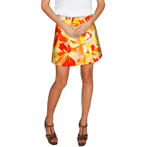 Flaming Hibiscus Aria A-Line Skirt - Women