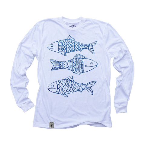 Happy Fish: Organic Fine Jersey Long Sleeve T-Shirt