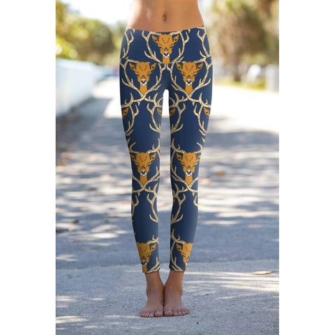Hello My Deer Lucy Printed Performance Yoga Leggings - Women