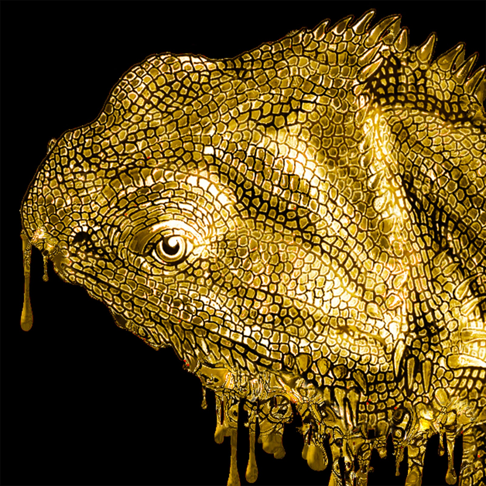 Dripping Gold Lizard - Ultimate Quality