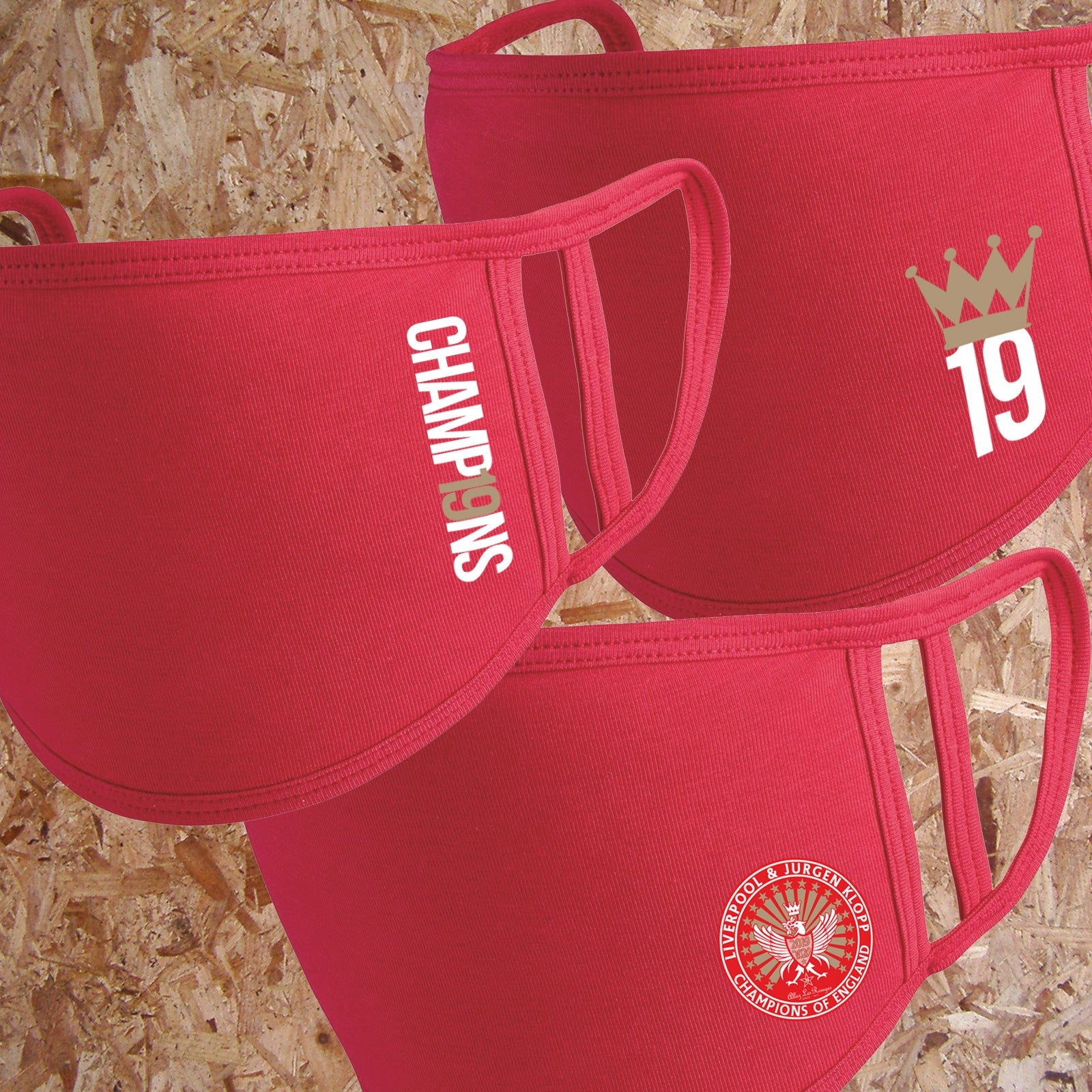 Liverpool CHAMP19NS Champions Face Masks