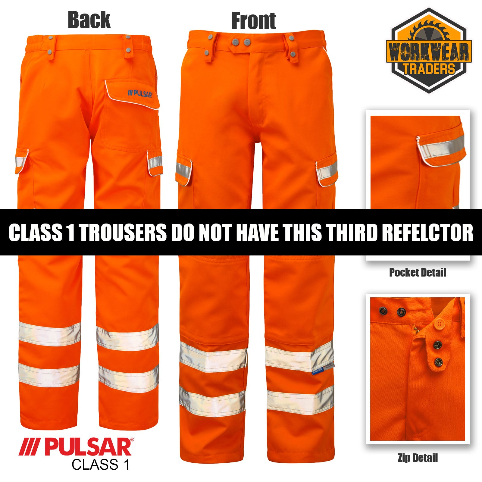 Pulsar Rail Hi-Viz Orange Combat Trousers PR336
