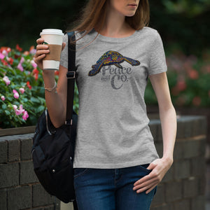 Sea Turtle Mandala Womens T-Shirt