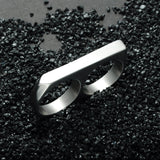 Stainless Steel 2 Finger Ring