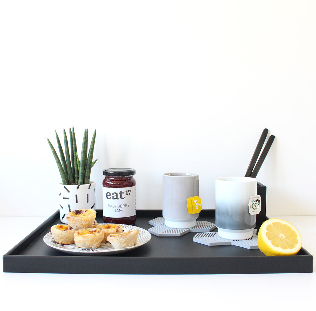 Ideas for Using or Styling our Black Rubber Serving Tray