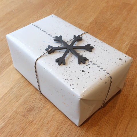 Wrapped parcel with star decoration