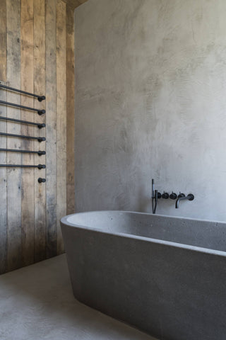 Large concrete bath tub