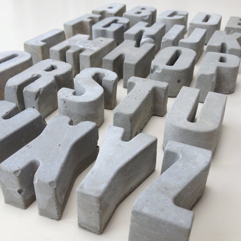 Alphabet of concrete letters