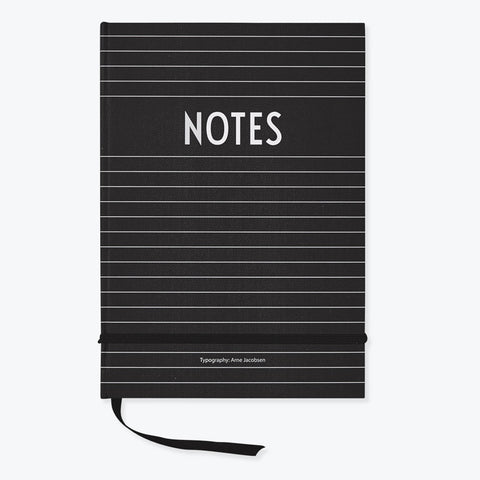 Black A5 Hardback notebook