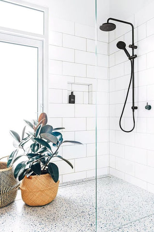 Shower with Terrazzo floor
