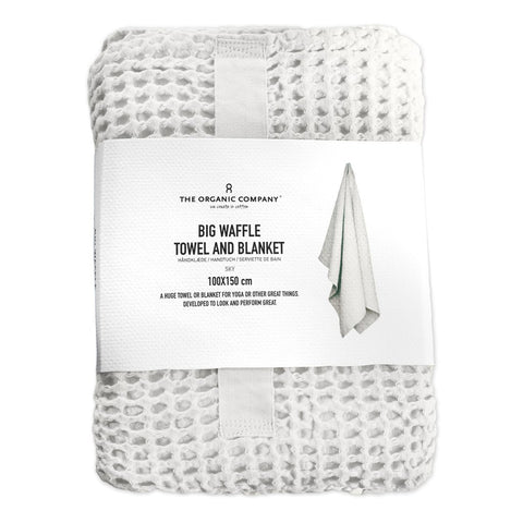 White Waffle Blanket in packaging