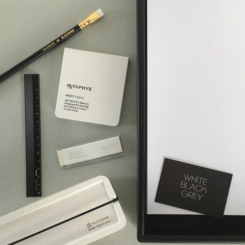 Collection of monochrome stationery