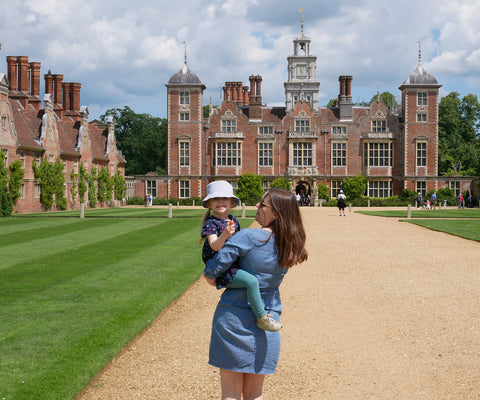 Blickling Estate frontage with mother and daughter in foreground