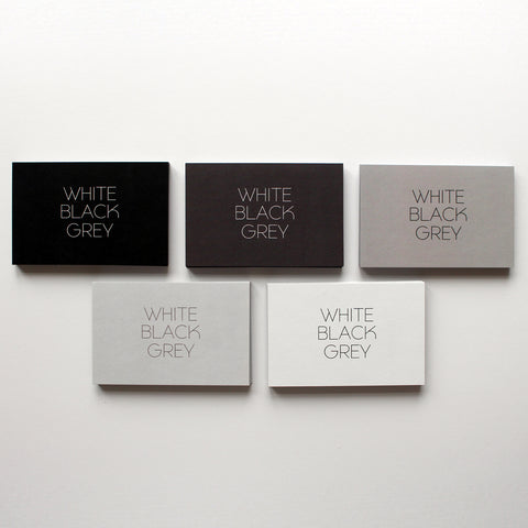 White Black Grey Business Cards