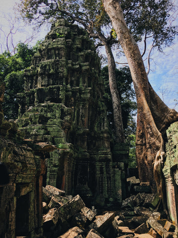 Ruined temple in Cambodia