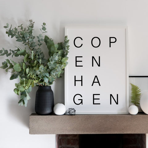 Copenhagen print with vases