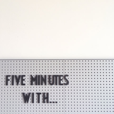 "Notice board with text ""Five Minutes With"""