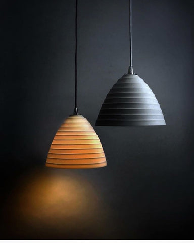 Porcelain lampshades by Laverick and Son