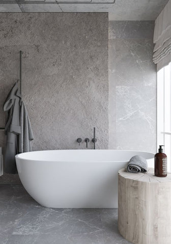 Minimal Bathroom, industrial textures