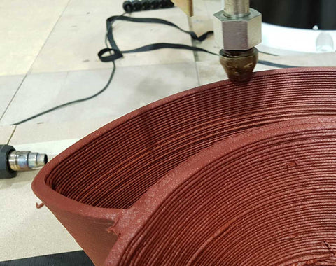 3D printing of red curve