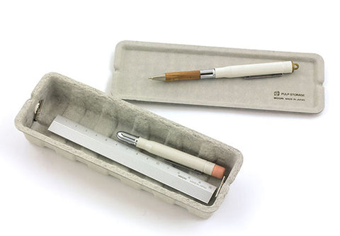 Grey paper pulp pencil case