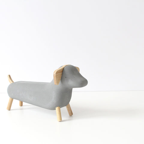 Concrete Dachshund ornament