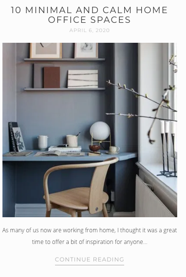 Screenshot from That Scandinavian Feeling - blog post on Home Office Spaces