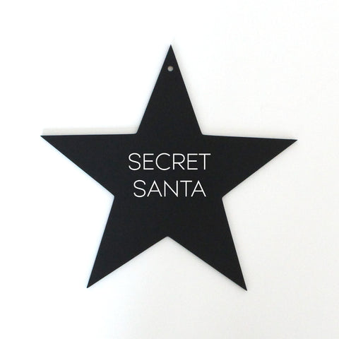 Secret Santa on star image