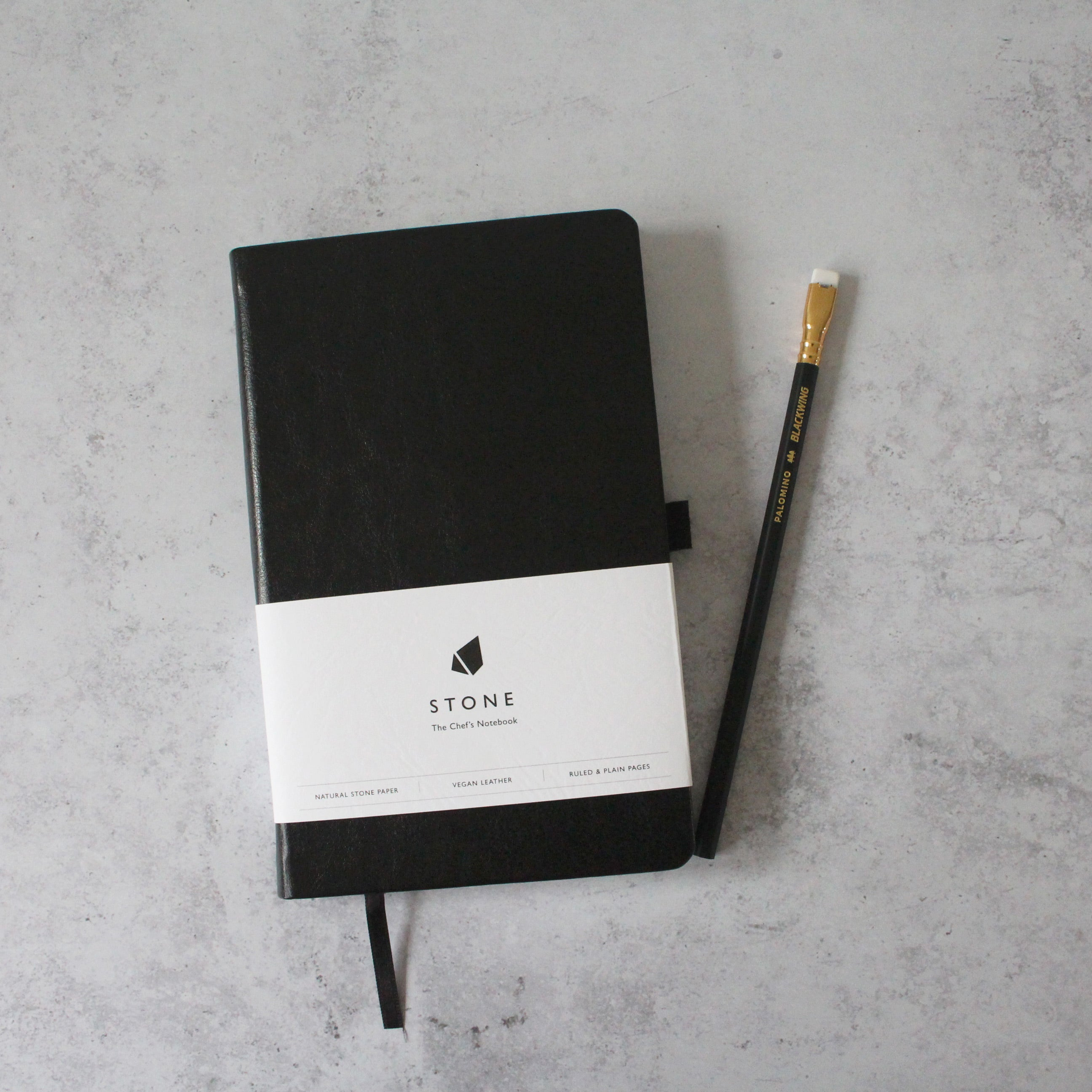 'Stone' Chef's Notebook with Blackwing pencil