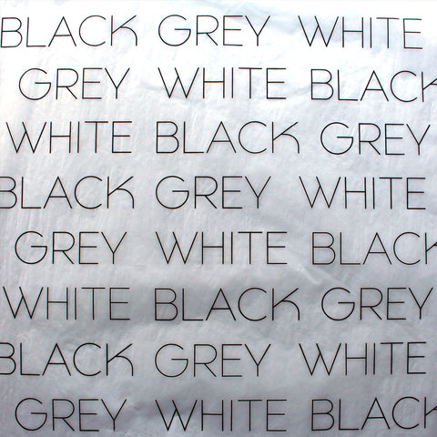 White Black Grey branded tissue paper