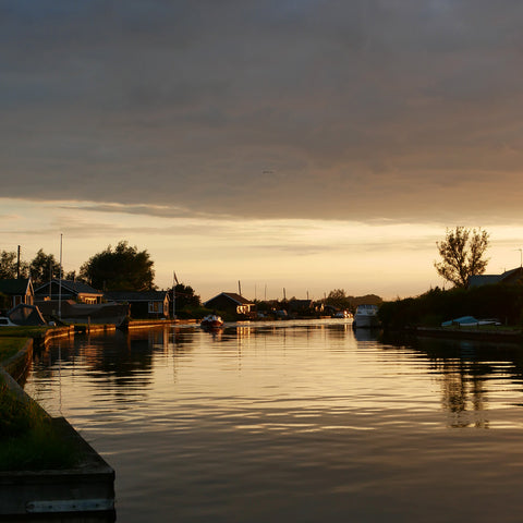 Sunset view of the Norfolk Broads