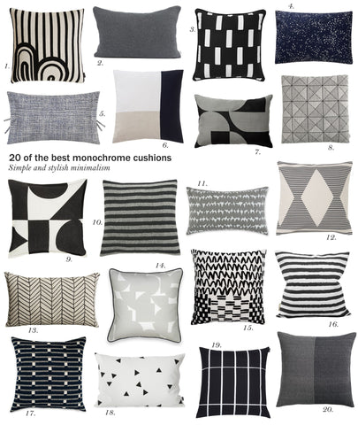 20 of the best monochrome cushions