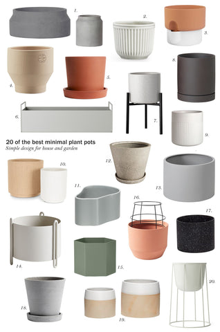 20 of the best minimal pots and planters