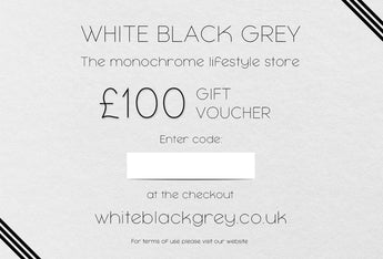 White Black Grey Gift Voucher - £100