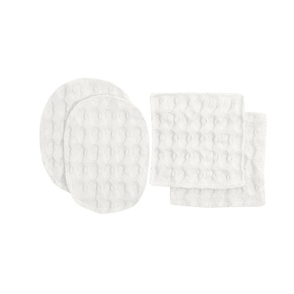 Reusable Makeup Pads | Set of 4 | Organic Cotton | White