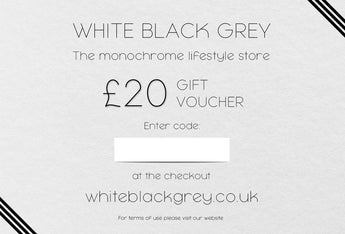 White Black Grey Gift Voucher - £20