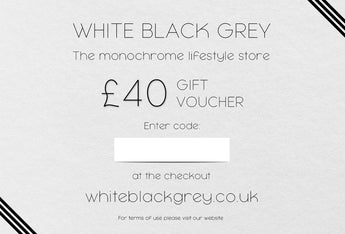 White Black Grey Gift Voucher - £40